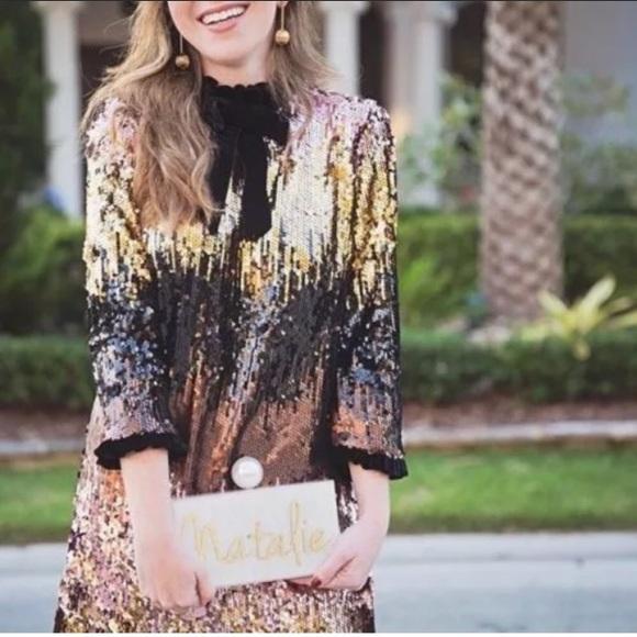 8fcfefc1 Zara Dresses   Ombre Sequin Dress Nwt Sz L   Poshmark
